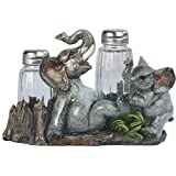 7 Inch Elephant Playing With Child Salt And Pepper Shaker Kitchen Decoration Statue Figurine