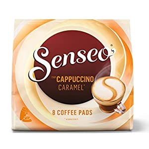Find Senseo Coffee Pods Cappuccino Caramel, New Recipe, 8 Pods by Douwe Egberts