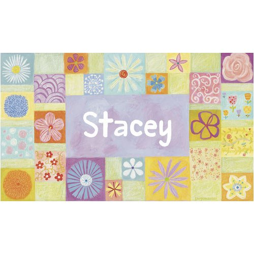 Oopsy daisy Flower Girl Stretched Canvas Wall Art by Donna Ingemanson, 24 by 14-Inch