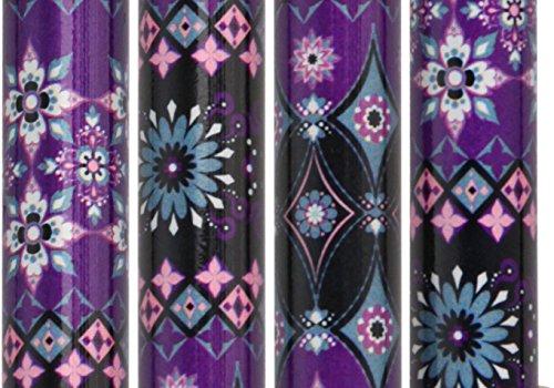 Pretty Purple Designer Adjustable Derby Walking Cane with Engraved Collar