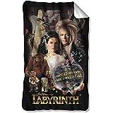 Labyrinth 1986 Family Fantasy Adventure Movie Poster Fleece Blanket