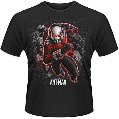 Plastichead Ant-Man Antman-T-shirt Uomo,    Nero - Nero XL