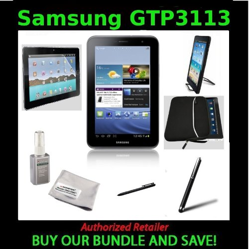 Samsung Galaxy Tab 2 (7-Inch, Wi-Fi) With Digital Gadgets DGTAB7USK 7-Inch Universal Tablet Starter Kit and Monster ScreenClean LCD Display Cleaner