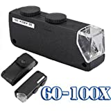 60X-100X Portable Lighted Microscop