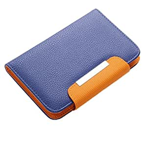 Jo Jo Z Series Magnetic High Quality Universal Phone Flip Case Cover Stand For Micromax Canvas HD A116 Blue Orange