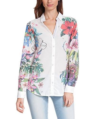 Desigual Women's Button-Up Shirt  [Blanco]