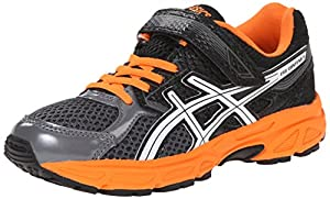ASICS Pre Contend 3 PS Running Shoe (Little Kid), Carbon/White/Orange, 2.5 W US Little Kid