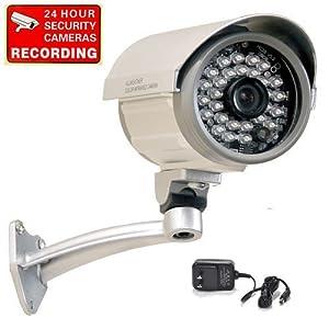 "VideoSecu CCTV Security Camera 1/3"" SONY CCD Outdoor Indoor Weatherproof Night Vision IR Infrared Free Power Supply C67"