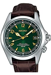 Seiko Men's SARB017 Mechanical Alpinist Analog  Automatic Self Wind Brown Watch