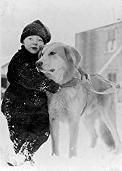 Child and Dog, Alaska, ca. 1915 Photograph - Beautiful 16x20-inch Photographic Print from the Library of Congress Collection