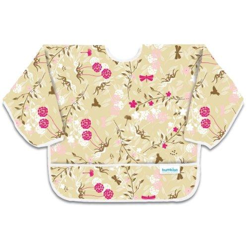 Bumkins Sleeved Bib - Flutter Floral - 1