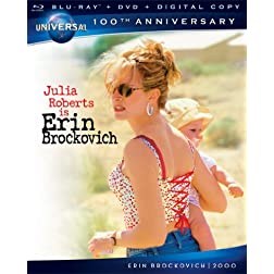 Erin Brockovich [Blu-ray + DVD + Digital Copy] (Universal's 100th Anniversary)