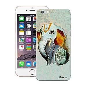 Customizable Hamee Original Designer Cover Thin Fit Crystal Clear Plastic Hard Back Case for Apple iPhone 5 / 5s / SE / 5SE (Ganesha Blessings / Grey)