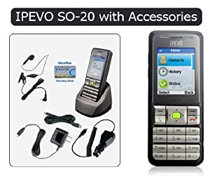 "Ipevo S0-20 Cordless Wi-Fi Phone for Skype with 1.8"" LCD Screen"