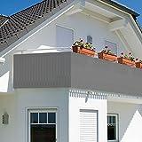 Balkonsichtschutz - Sichtschutz - Windschutz 600x75cm mit Farbauswahl