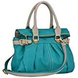 MG Collection Gabby Oversized Shopper Hobo Shoulder Bag, Teal, One Size