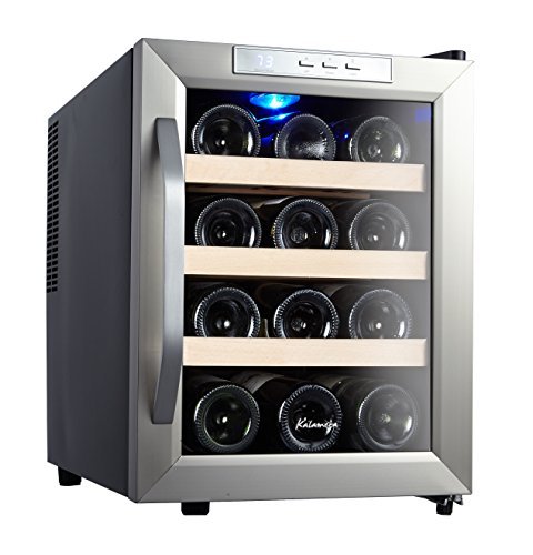 Kalamera 12 Bottle Counter Top Stainless Steel Wine Cooler Refrigerator (Wine Fridge Parts compare prices)