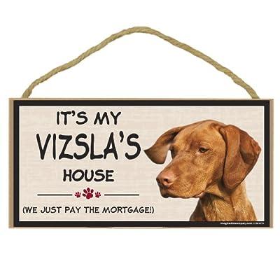 Imagine This Wood Breed Decorative Mortgage Sign, Vizsla