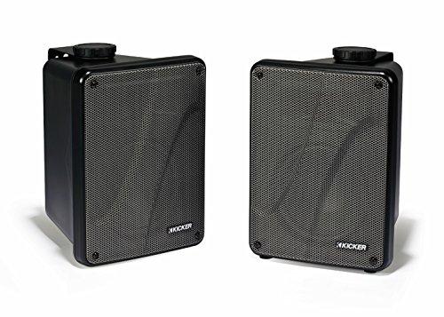 Kicker Kb6000 Black Full Range Indoor/Outdoor Speakers