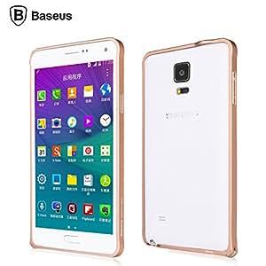 BASEUS Beauty Arc Metal Bumper Aluminium Frame Case Cover For Samsung Galaxy Note 4 N9100 - ROSE