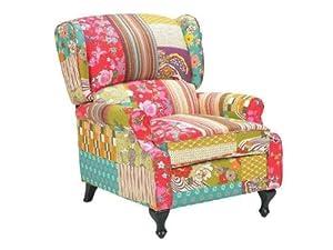 VidaXL Wingback Chair Patchwork Design Armlehnsessel Sale ...