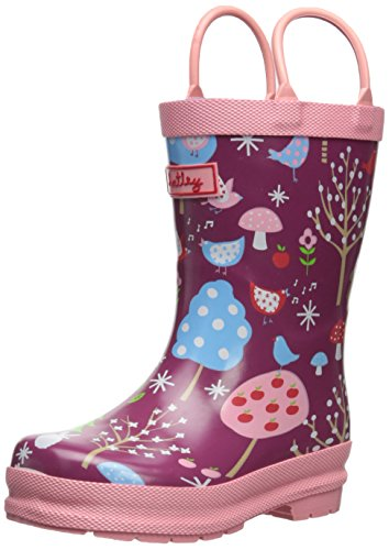 Hatley Little Girls' Rainboots - Winter Forest, Red, 11 front-945205
