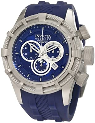 Invicta Men's 1224 Bolt Reserve Chronograph Blue Dial Blue Silicone Watch