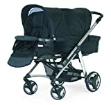 Bebecar One and Two Tandem Pushchair Chrome Chassis (Black Velvet)