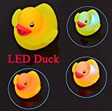 from Playlearn Playlearn 4pcs Waterproof Colour Change LED Duck Unisex Baby Kids Children Bath Mood Lamp Night Light