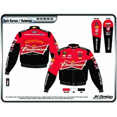 Buy 2014 Kevin Harvick Budweiser Mens Red Twill Nascar Jacket 4X by J.H. Design