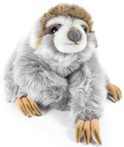 Siggy the Threetoed Sloth Baby | 12 Inch Large Madagascar Sloth Stuffed Animal Plush | By Tiger Tale Toys