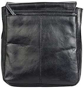 H.U.N.T Leather Cross-Body Bag (Black)