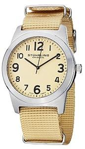 Stuhrling Original Men's 409.SET.01 Tuskegee Contrail Swiss Quartz Beige Watch with Additional Strap
