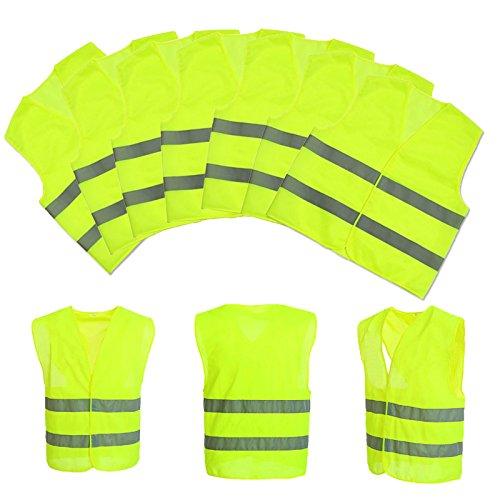 Baytter-5x-10x-Auto-Warnweste-Set-Unfallweste-Pannenweste-Sicherheitswarnweste-EN-471-mit-Reflektorstreifen-und-Klettverschluss-gelb-orange-whlbar-Standardgre