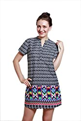 Meiro Women's Shirt Dress (14109_Black_Medium)