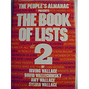 The book of lists 2   Irving Wallace