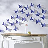 #6: Jaamso Royals Blue 3D Butterflies' Wall Sticker (1 Combo Pack of 12 Butterfly) ,Multicolor