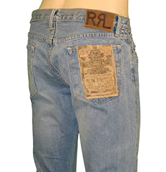Polo Ralph Lauren RRL Mens Selvedge Denim Jean Pants Slim Bootcut USA 32/34