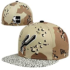 New Era San Antonio Spurs Hardwood Classics Hooked 59FIFTY Hat - Leopard Camo by New Era