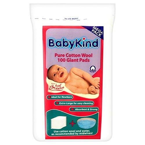 babykind-gigantes-almohadillas-de-algodon-100-por-paquete