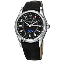 Frederique Constant Men's FC-330B6B6 Index Black Leather Strap Watch from Frederique Constant