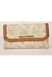 Brahmin Soft Checkbook Wallet in Beige Parker