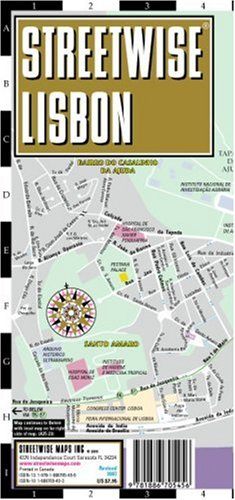 Streetwise Lisbon Map - Laminated City Center Street Map of Lisbon, Portugal - Folding pocket size travel map with surface tram lines & metro stations