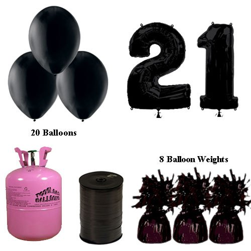 21st-birthday-black-balloons-and-helium-gas-package