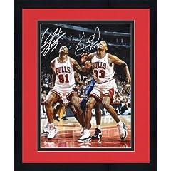 Framed NBA Chicago Bullls Scottie Pippen & Dennis Rodman Autographed 16