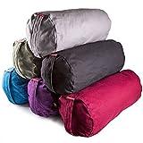 Peace Yoga® Zafu Meditation Yoga Cotton Cylinder Bolster Pillow Cushion - Burgundy