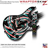 Alecias Swirl 02 Skin fits Band Hero, Guitar Hero 5 & World Tour Guitars for Nintendo Wii (GUITAR NOT INCLUDED) by WraptorSkinz TM – (OEM Packaging)