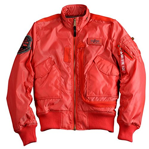 "Alpha Ind. Jacke ""Engine"" – spicy red NEU online bestellen"