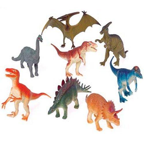 """Dozen Large 6"""" Plastic Toy Dinosaurs"""