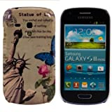 Hard case City design (New York) for Samsung Galaxy S3 Mini i8190 in White - from kwmobile